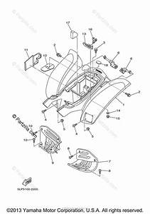 Yamaha Atv 2004 Oem Parts Diagram For Rear Fender