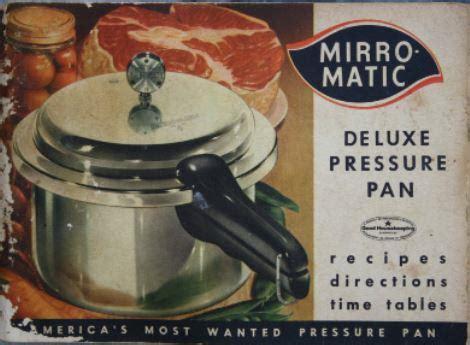 mirro matic vintage pressure pan ii instruction manual