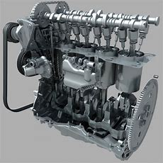 4 Cylinder Engine 3d Model Cgstudio