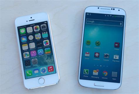 iphone 5s vs samsung galaxy s4 battle of the flagships
