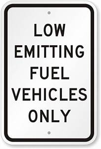 Zero Emission Vehicles Parking Signs - ZEV Parking Signs