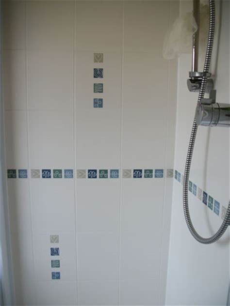 biarritz blue bathroom border tiles modern border bia