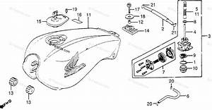 Honda Motorcycle 1983 Oem Parts Diagram For Fuel Tank