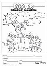 Easter Contest Template Coloring Competition Oxfords Saddle Templates sketch template