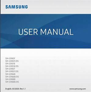 Samsung Galaxy S20  5g User Manual    Guide