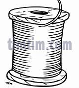 Drawing Spool Sewing Drawings Thread Timtim Bw3 Hobby Coloring Tim sketch template