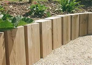 Bordure de jardin collstrop joli jardin pinterest for Amenagement de massif exterieur 5 muret de retenue en traverses de bois positionnees 224 la