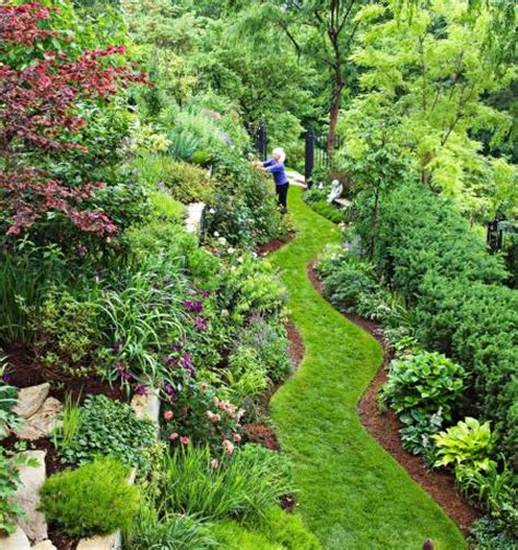 midwest gardens garden tour tame a steep backyard midwest living