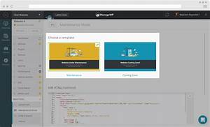 how to use maintenance mode for your websites managewp With maintenance mode html template