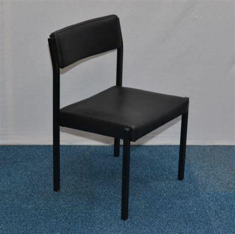 black vinyl steel frame stacking chair