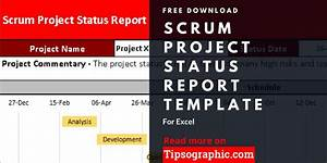 Agile Scrum Project Status Report Scrum Template Excel
