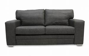 Dublin chunky leather sofa bed wide square arms choice for Wide sofa bed