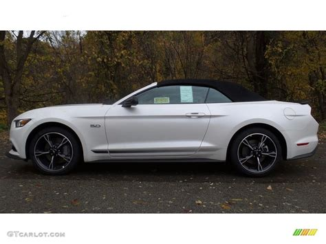 white ford mustang convertible 2017 white platinum ford mustang gt california speical