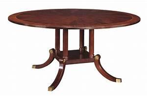 Henkel harris 66 round dining table 2266 for Henkel harris dining table