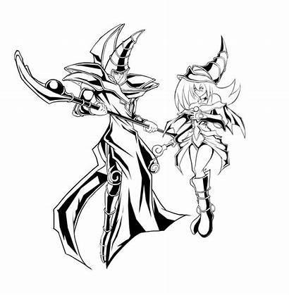 Dark Magician Drawing Coloring Souls Clipart