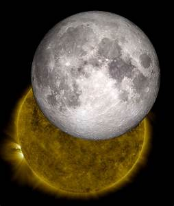Visualization Of The Moon And Sun