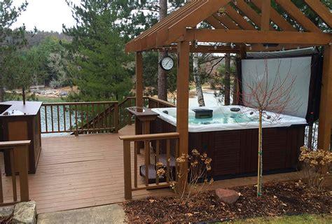 pool patio and spa set backyard ideas for tubs and swim spas