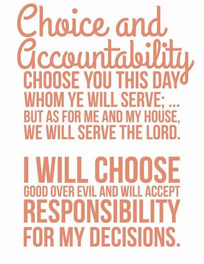 Accountability Choice Personal Progress Quotes Young Lds