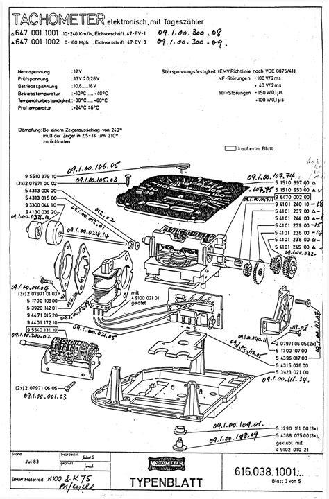 Motometer Parts Explosion Diagrams For Oem Instrument Cluster