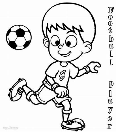 Coloring Football Pages Player Players Soccer Nfl