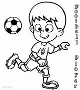 Coloring Football Player Players Soccer Printable Playing Drawing Drawings Nfl Sheets Cool2bkids Subject Ball Neymar Jersey Clipartmag Getcolorings Sport Perfect sketch template