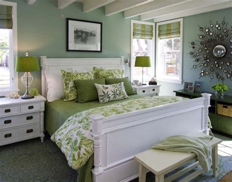 Green Bedroom : Green Bedroom Decorating Ideas For Spring-frances Hunt