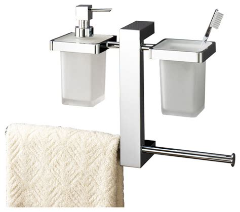 Gedy - Wall Mounted Rack With Toothbrush Holder, Soap