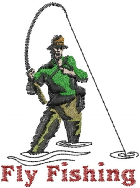 hobbies embroidery design fly fishing  machine embroidery designs