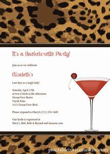leopard print cocktail party invitation wedding With leopard print invitations templates