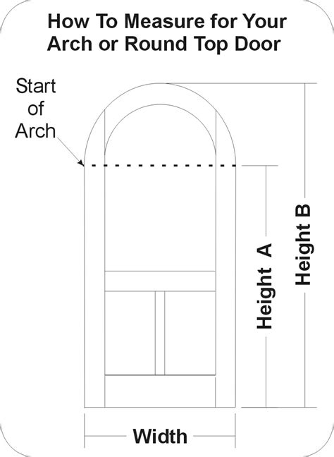 how to measure for a door height b