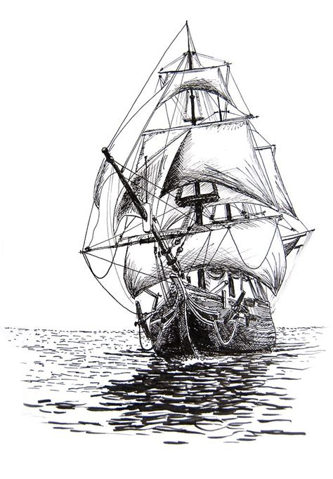 Boat Drawing Tattoo by Best 25 Ship Drawing Ideas Only On Pinterest Ship