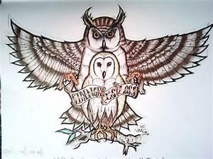 Owl Tattoo Sketch by Laziiboi on DeviantArt