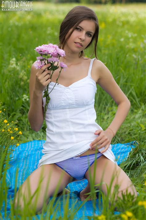 brunette ksenia with perky tits from amourangels wearing blue panties tgp gallery 321485