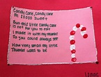 Candy Cane Poem: red and white thumbprints, construction ...