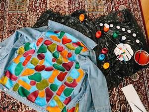 Diy, Hand, Painted, Denim, Jacket, U2013, Natinstablog