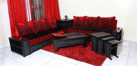 banquettes salon marocain moderne  deco salon maroc