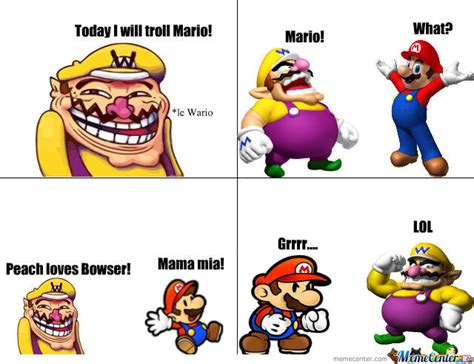 Wario Memes - wario the troll by daflame12 meme center