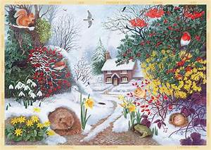 Puzzle Anne Searle Winter Hedgerow Jumbo 11094 500