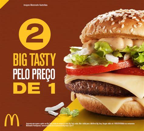 2 Big Tasty pelo preço de 1 nesta promoção do McDonald's. Pegue seu cupom! - Geek Publicitário