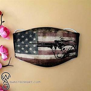 American Flag Army Veteran All Over Printed Face Mask