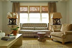 Sofa in front of windows transitional living room for Couch and sofa table in front of window