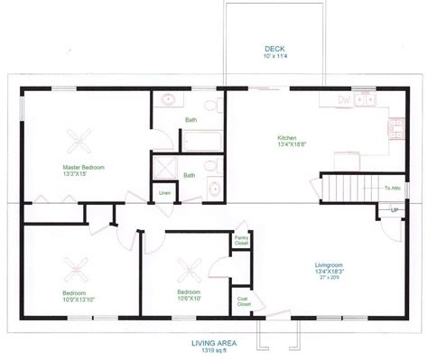 simple  floor house plans ranch home plans house