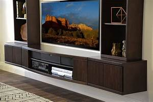 Floating TV Stand Wall Mount Entertainment Center - The