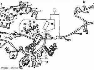 honda cbr1000f 1000 hurricane 1993 usa parts list With 1987 honda hurricane 1000 wiring diagram wiring harness wiring
