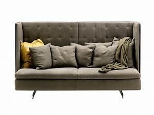 Sofa Mit Lautsprecher : sofa mit hoher r ckenlehne grantorino hb by poltrona frau design jean marie massaud ~ Indierocktalk.com Haus und Dekorationen