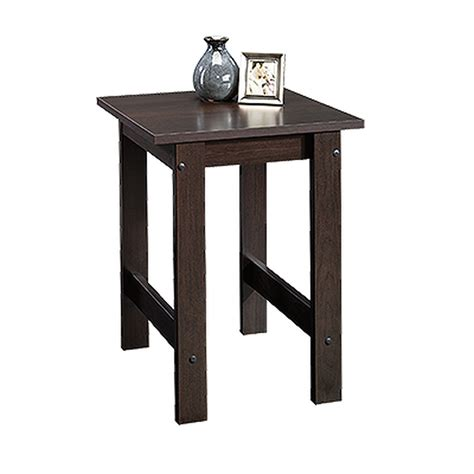 Bestseller add to favorites quick view river coffee table small vintage furniture rustic solid teak mango wood side end round crushed glass resin. Square Contemporary Side Table in Cinnamon Cherry | Mathis Brothers Furniture