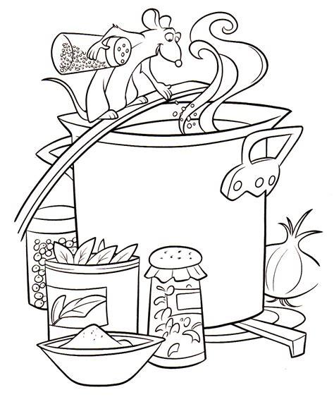 dessin animé de cuisine 9 dessins de coloriage cuisinier a imprimer gratuit à imprimer