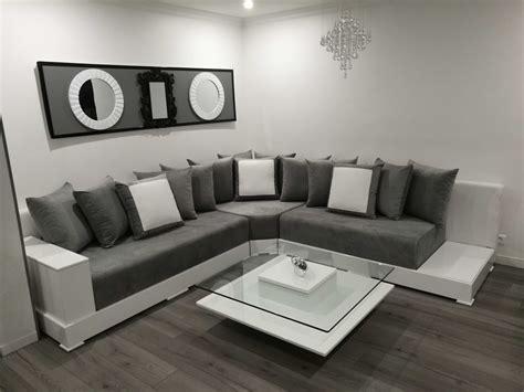 canapé marocain prix charmant salon marocain blanc collection avec salon