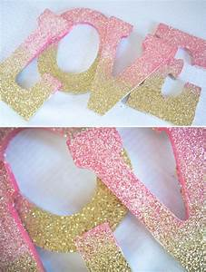 how to decorate wooden letters with glitter With sparkly wooden letters