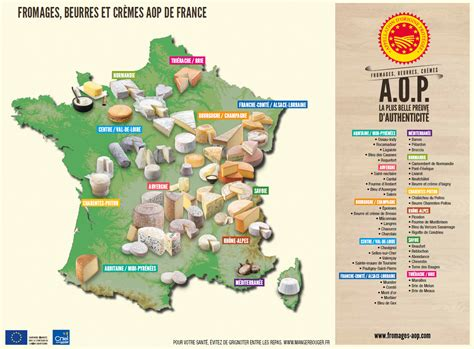 Carte Des Fromages De à Imprimer by Carte Des Fromages Voyages Cartes